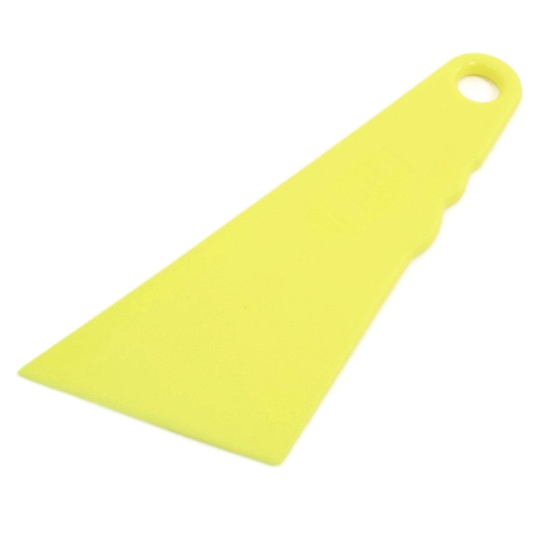 Car Yellow Plastic Triangle Design Window Glass Mirror Scraper Blade Cleaning