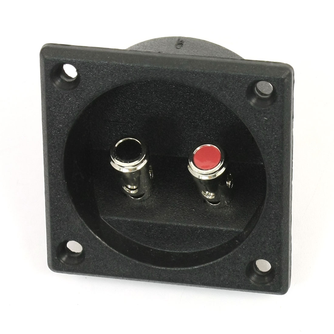Black Shell Speaker Box Push Spring Type Binding Post 2 Terminal Connector