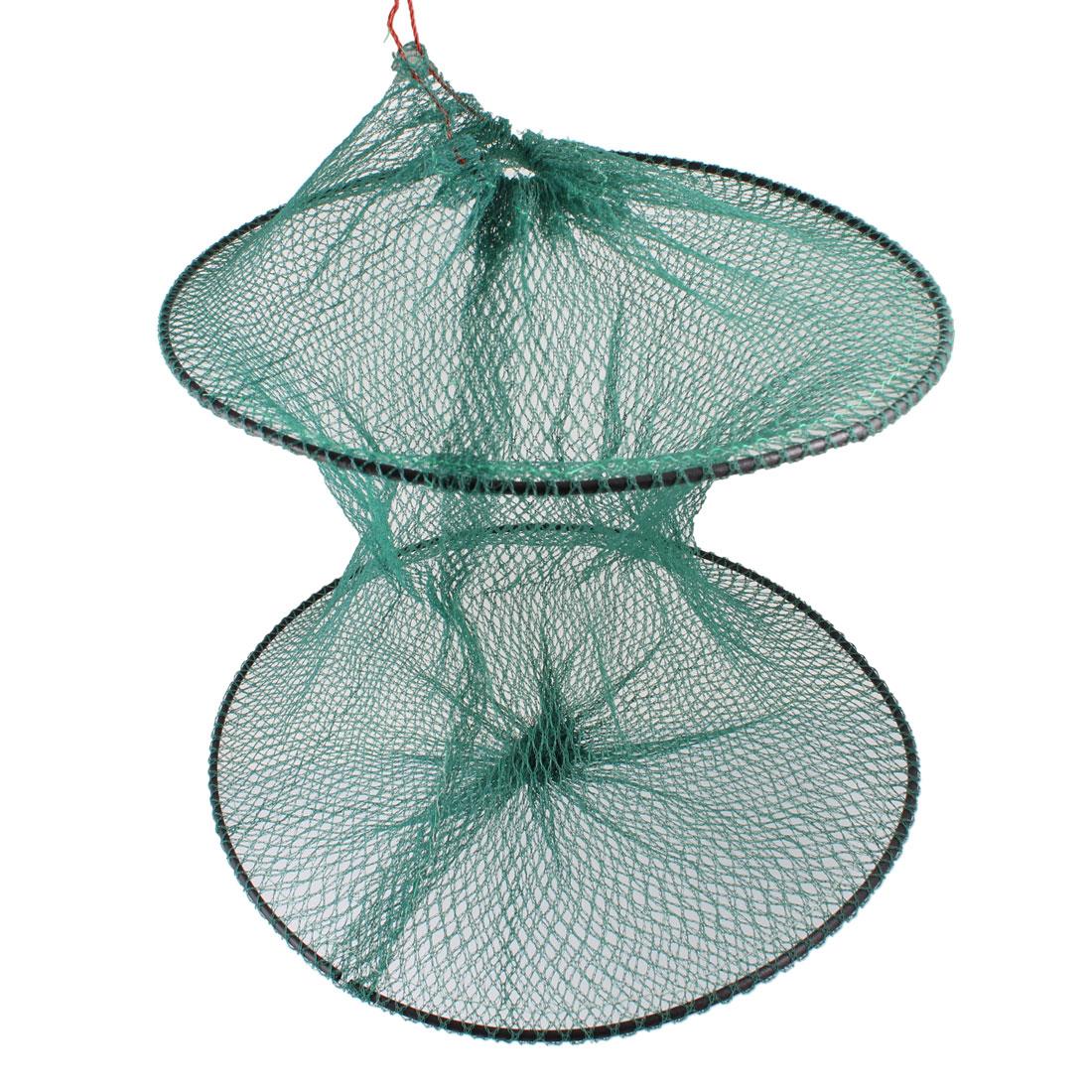 Green 31cm x 38cm Foldable Crawfish Lobster Fishing Keep Net