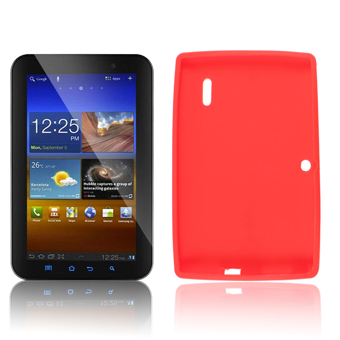 7inch Tablet PC Red Soft Silicone Case Cover for Q88 Allwinner A13 Android