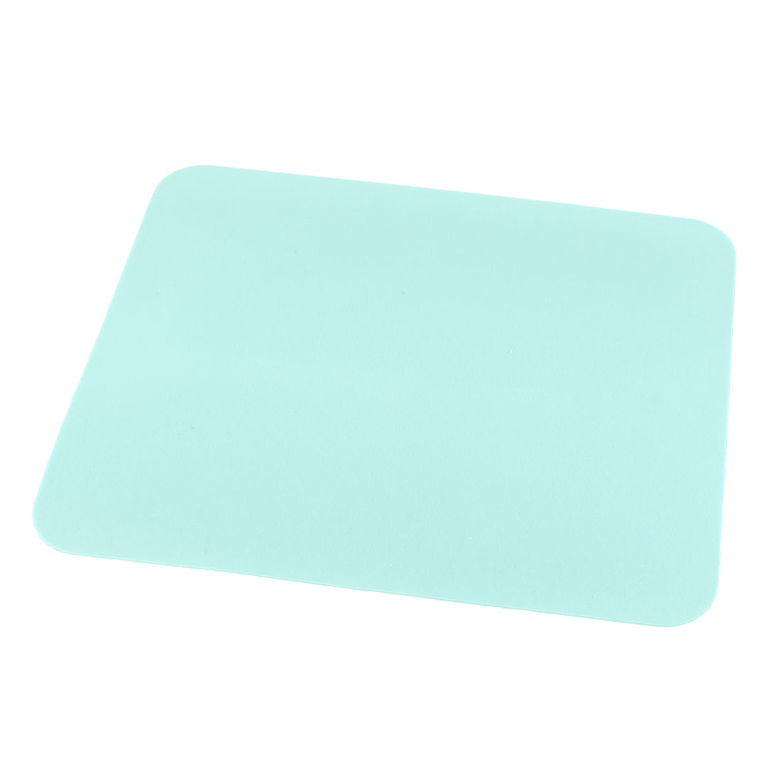 Cyan Silicone Nonslip Backing Washable Mouse Pad Mat for PC Computer