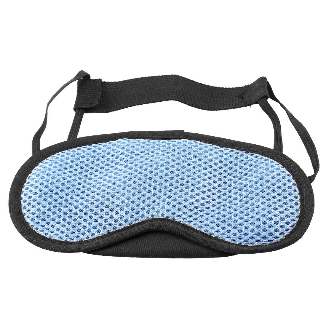 Blue Meshy Stretchy Strap Sleeping Eyeshade Eye Mask Cover Shade