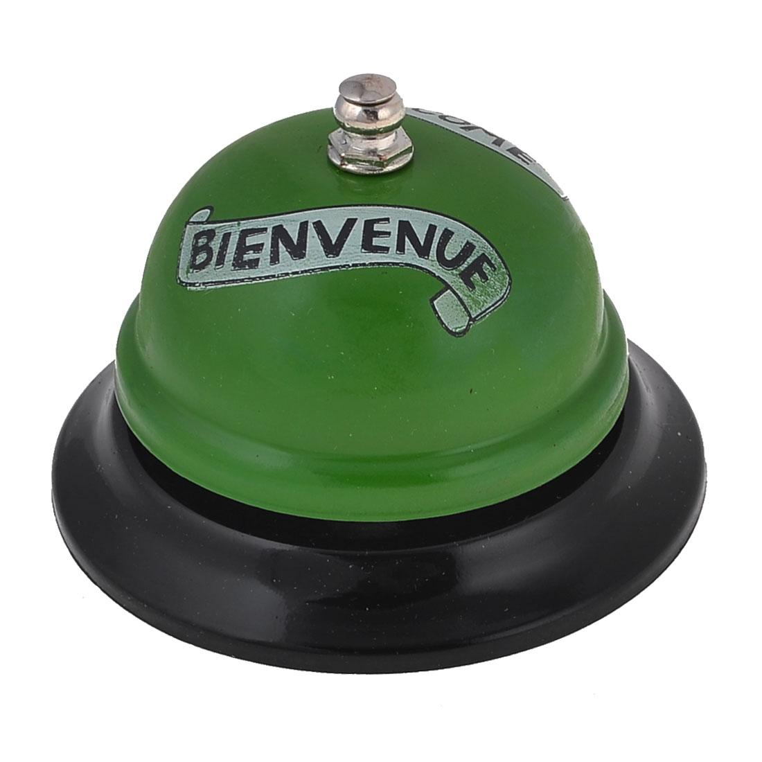 "Green Black Metal Words Prints Table Call Bell Ring 3.3"" Base Diameter"