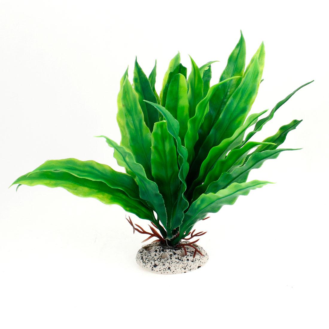 Green Leaves Mnamade Aquatic Plant Decoration for Aquarium Fish Tank