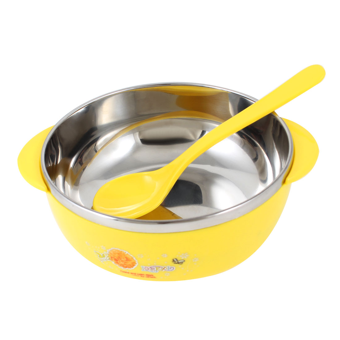 Home Kitchen Plastic Coated Stainless Steel Dinner Rice Bowl