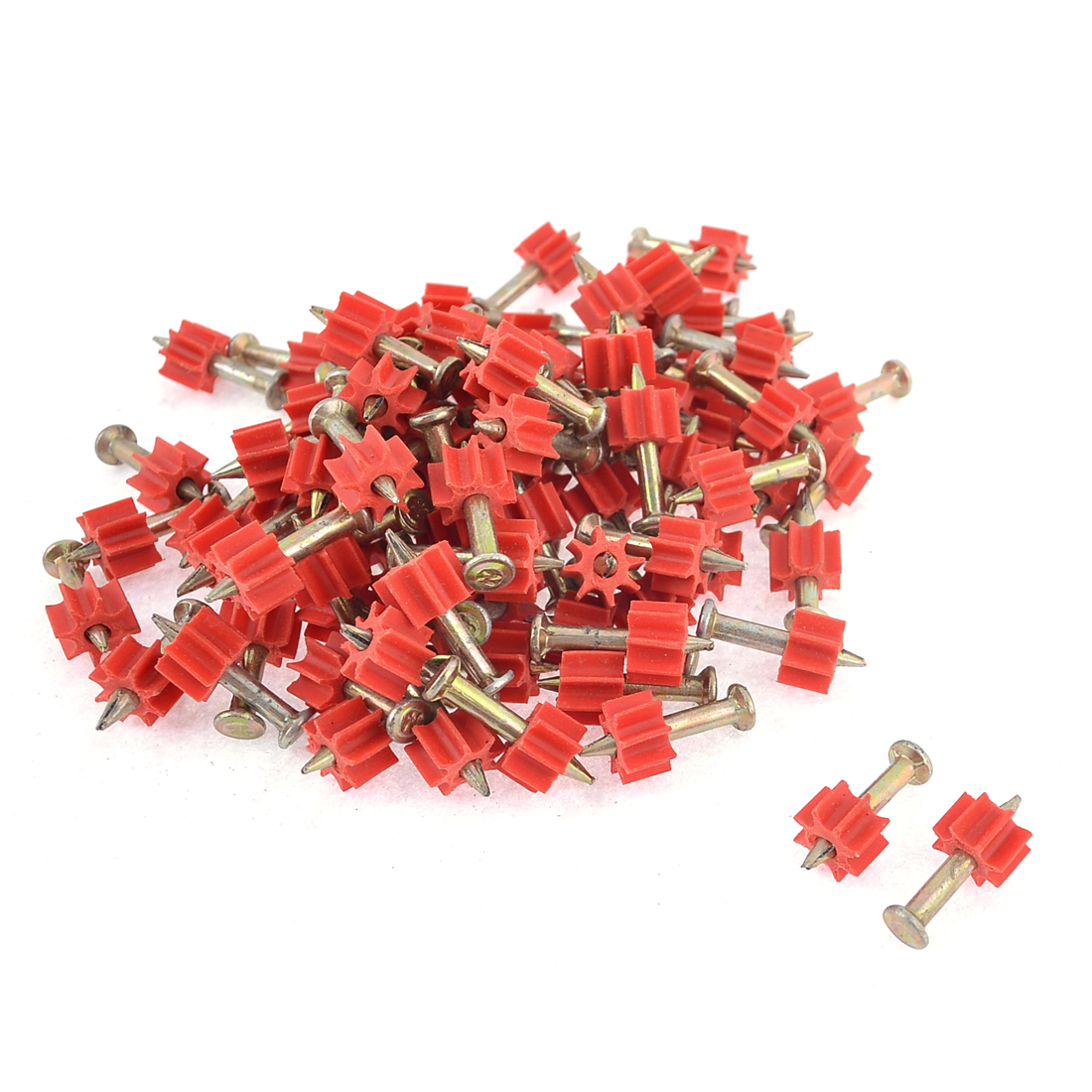 100 Pcs 2.8mm Dia Shank 22mm Long Power Hammer Drive Pins Fasteners