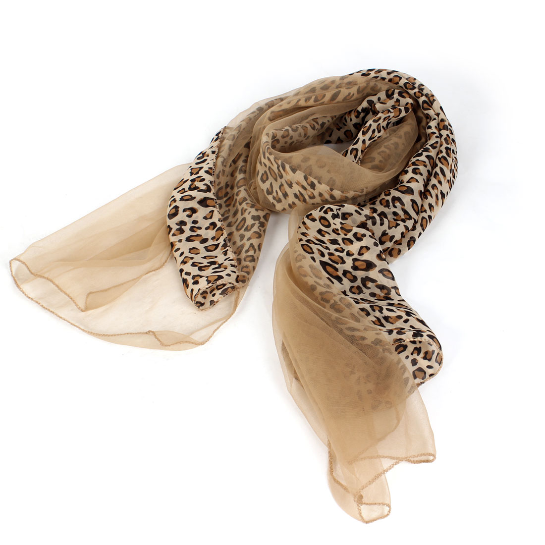 Women Fashion Leopard Prints Wrap Scarf Stole Shawl Browm