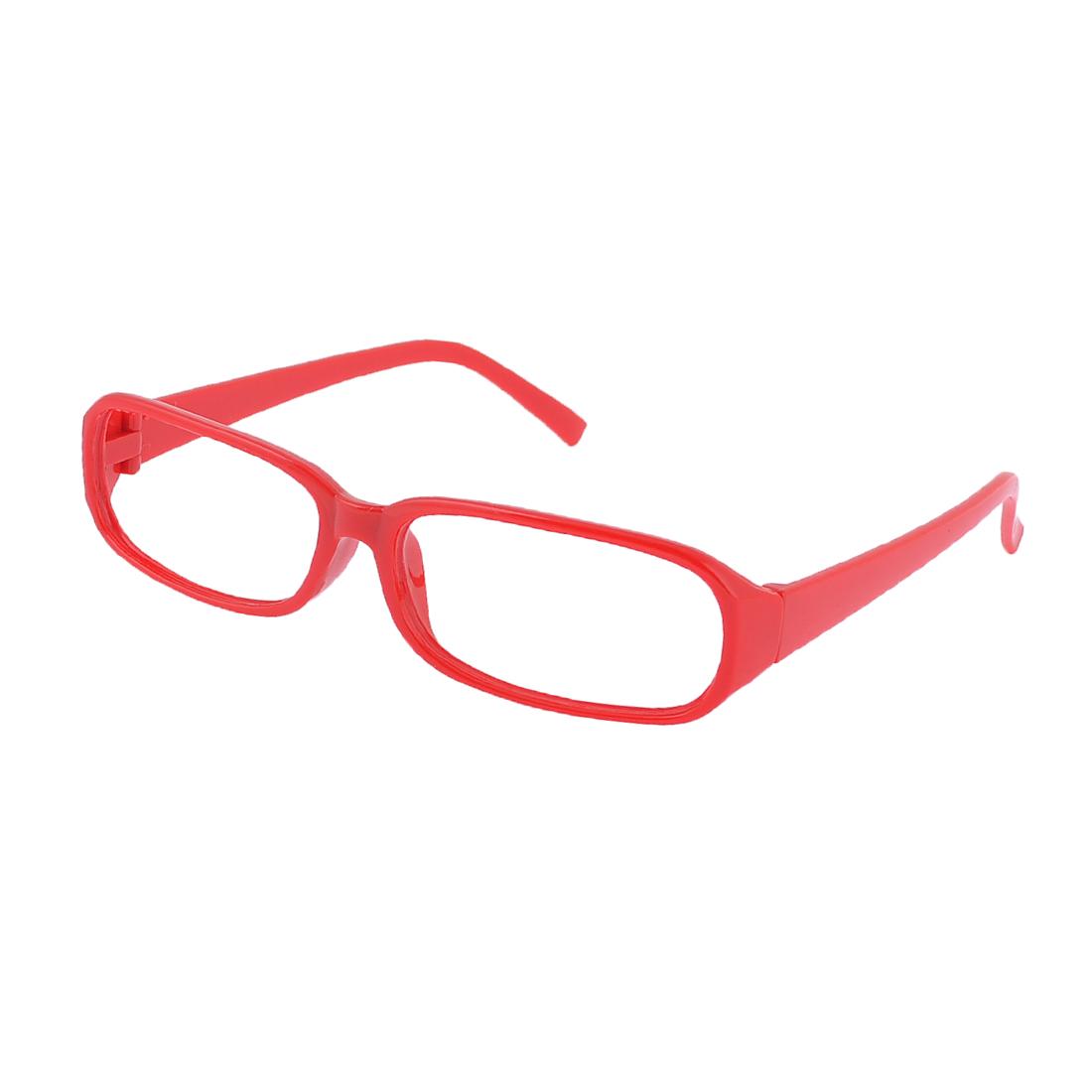 Red Plastic Full Rim No Lens Eyeglasses Glasses Frame for Woman