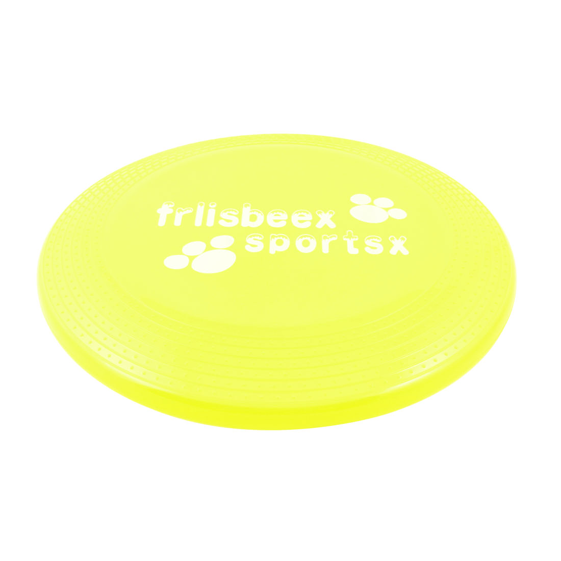 """8.9"""" Dia Yellow Paw Pattern Fetch Game Flying Disc Frisbee Toy for Pet Puppy Cat"""