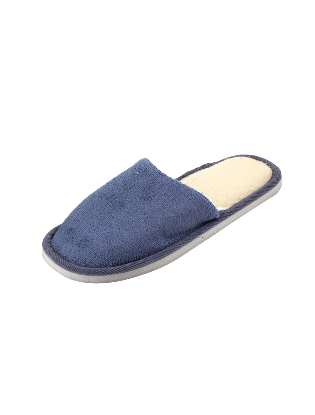 Dark Blue Foam Sole Winter Warm Slippers Shoes US Size 9.5 Pair for Man