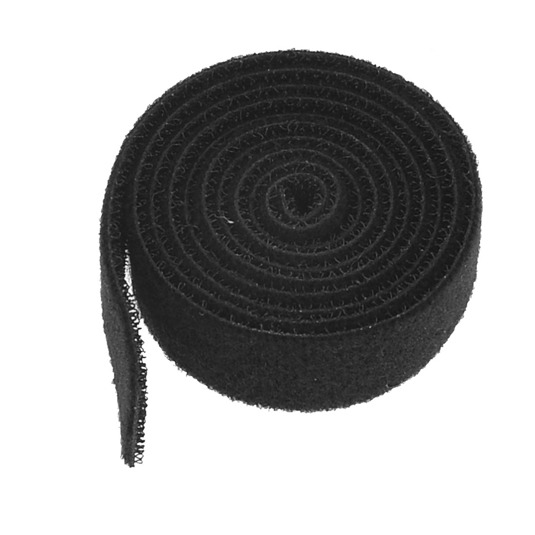 100cm Length Black Hook Loop Tape Cord Strap for Cable Wire Organizer