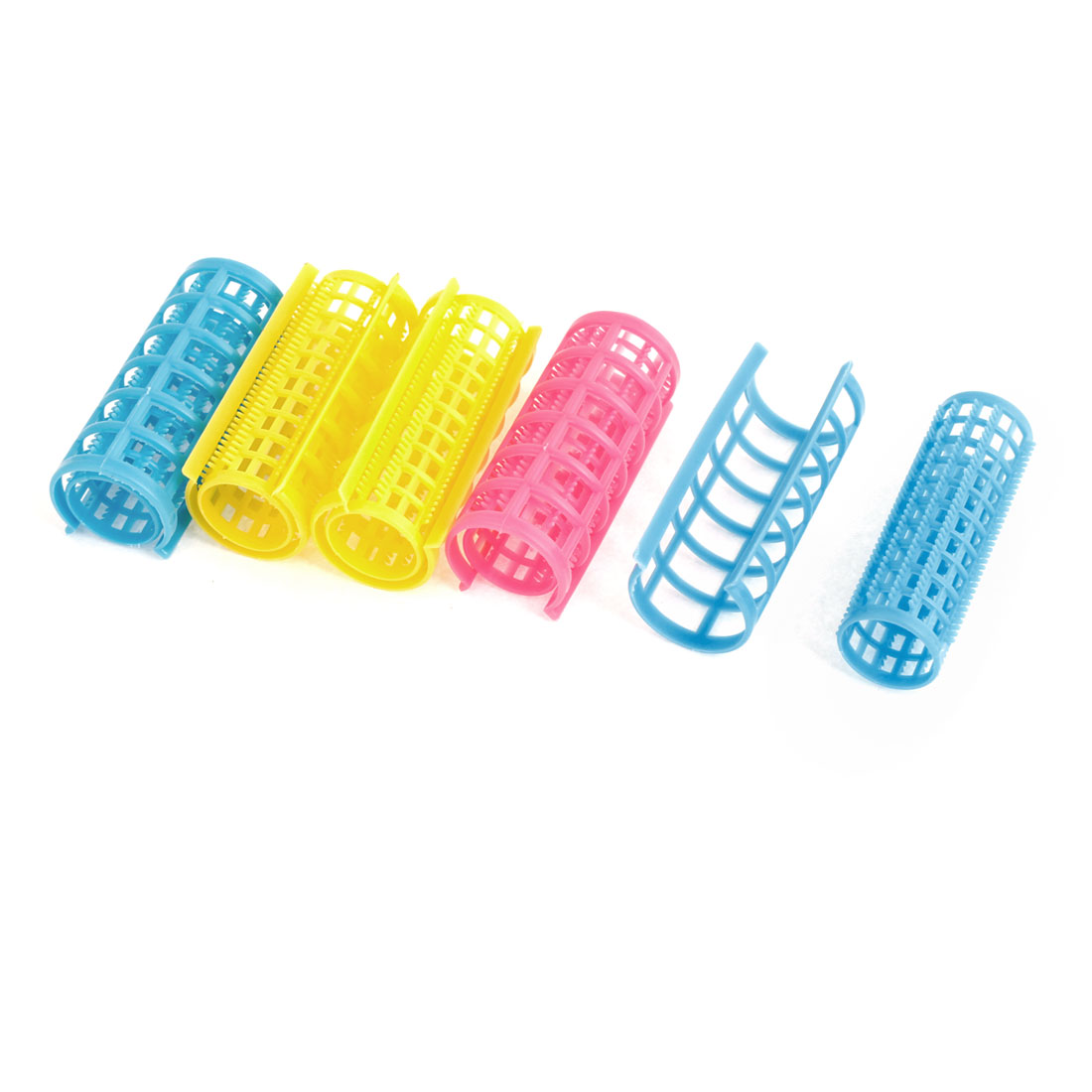 5 Pcs Plastic Hairdressing Hair Curlers Clips for Lady