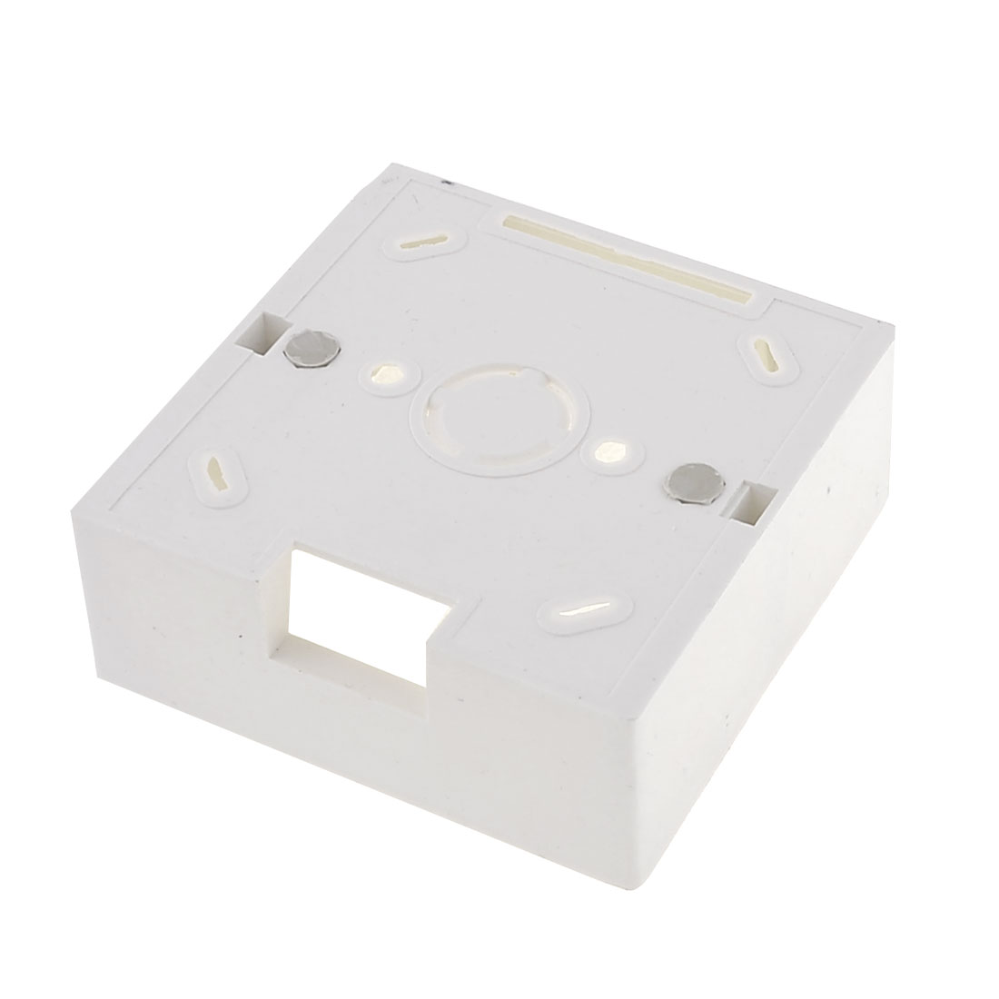 White Plastic Square Double Sockets Mount Back Box for Wall Socket