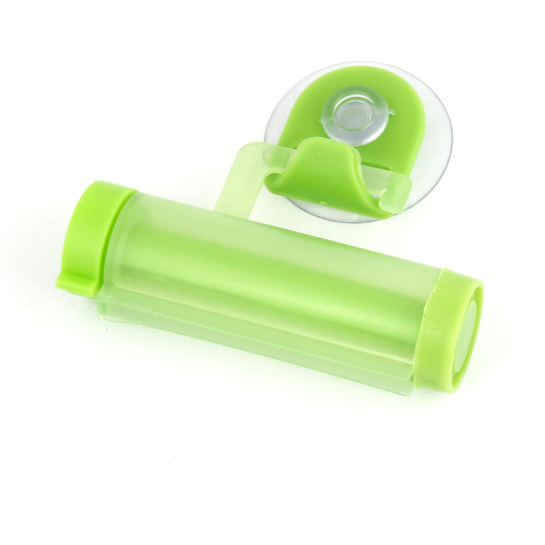 Home Bathroom Green Plastic Suction Cup Roller Toothpaste Squeezer