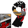 Men Women Letters Prints Warm Winter Black Knit Scarf