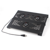 "Black 2.2"" Diameter Triple Fan Cooling Pad for 17"" Laptop"