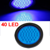 Truck Car Plastic Lens Round Blue 40 LED Parking Warning Tail Light