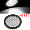 "Auto Cars 4.1"" Dia Lens 40 LED White Light 3 Wires Round Caution Tail Lamp"