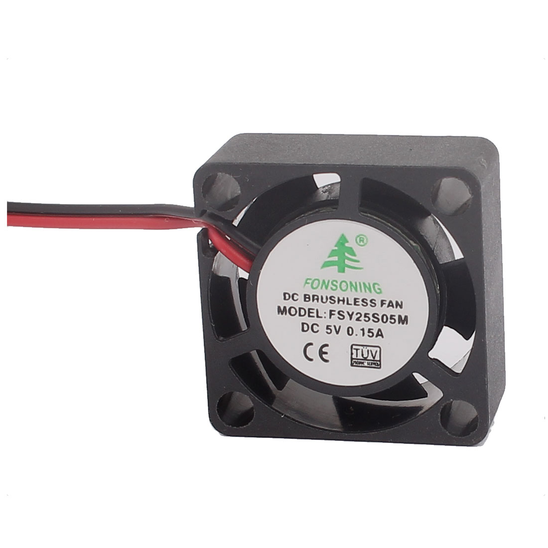 25mm 2.5cm DC 5V 0.15A Plastic 7 Flabellums Cooling Fan Cooler Black