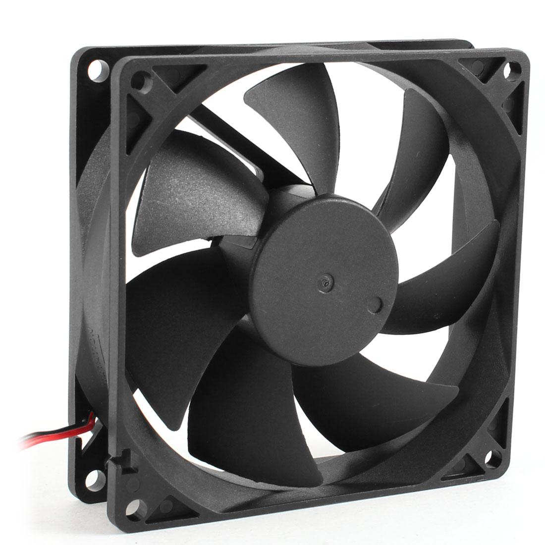 92mm x 25mm DC 12V 2 Terminal 65.01CFM PC Computer Case CPU Cooler Cooling Fan