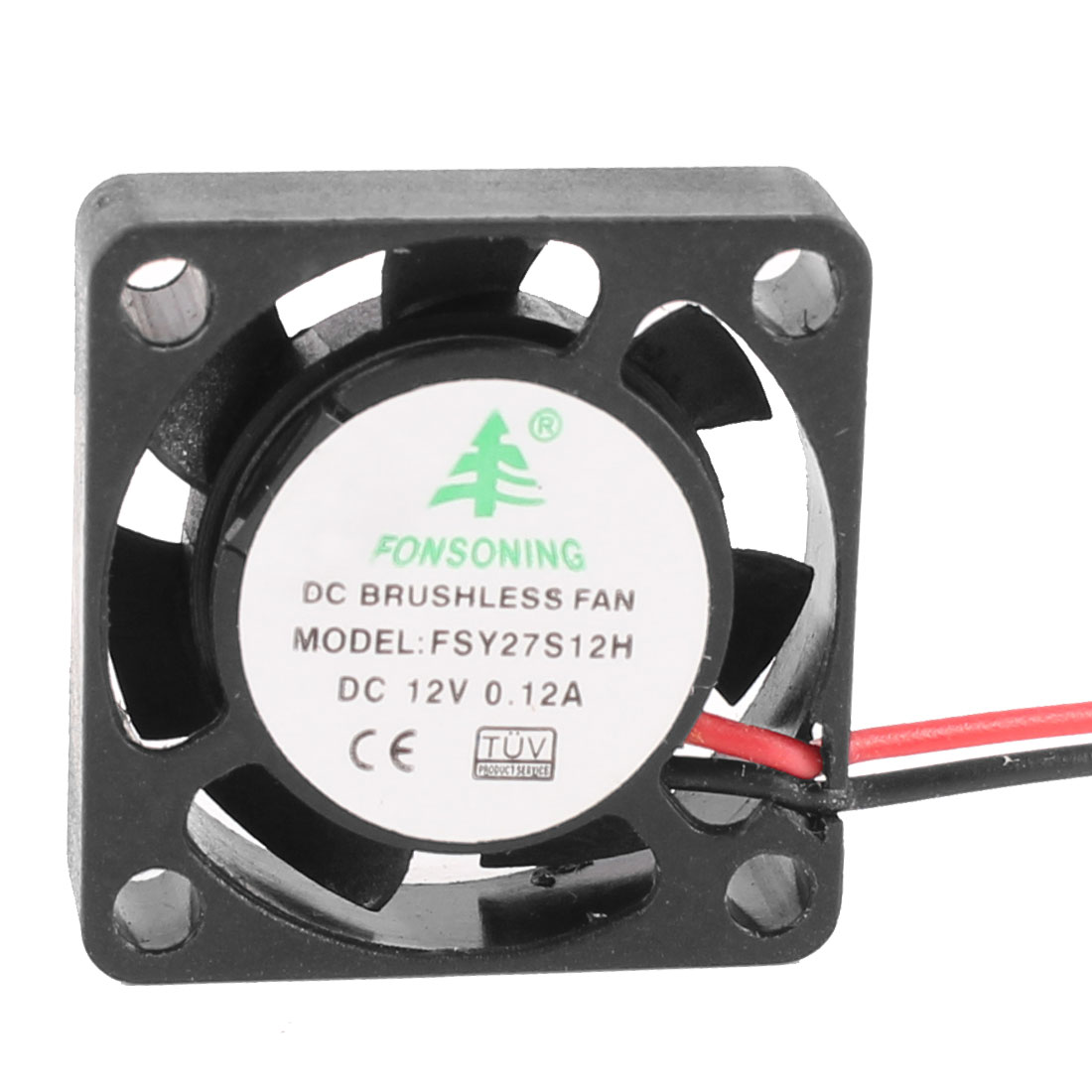 25mm x 25mm x 7mm DC 12V 0.12A 12000RPM Brushless Mini Cooling Fan Black