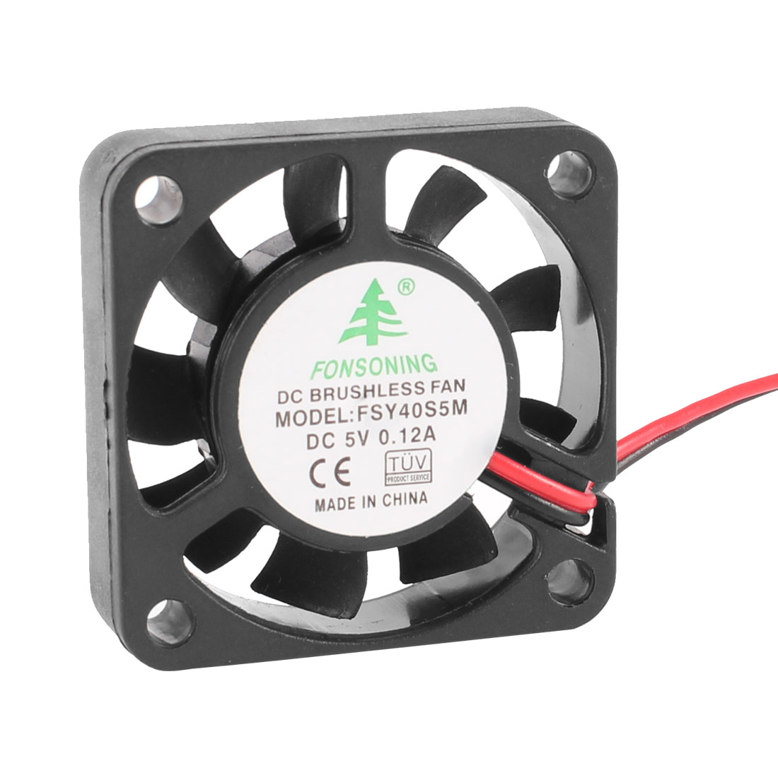 40mm x 10mm 0.12A 2 Terminal 5V DC Brushless Sleeve Bearing Cooling Fan