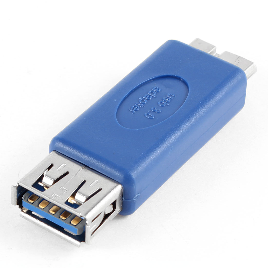 USB 3.0 Type A Female to Micro B Male Straight Adapter Connector Blue