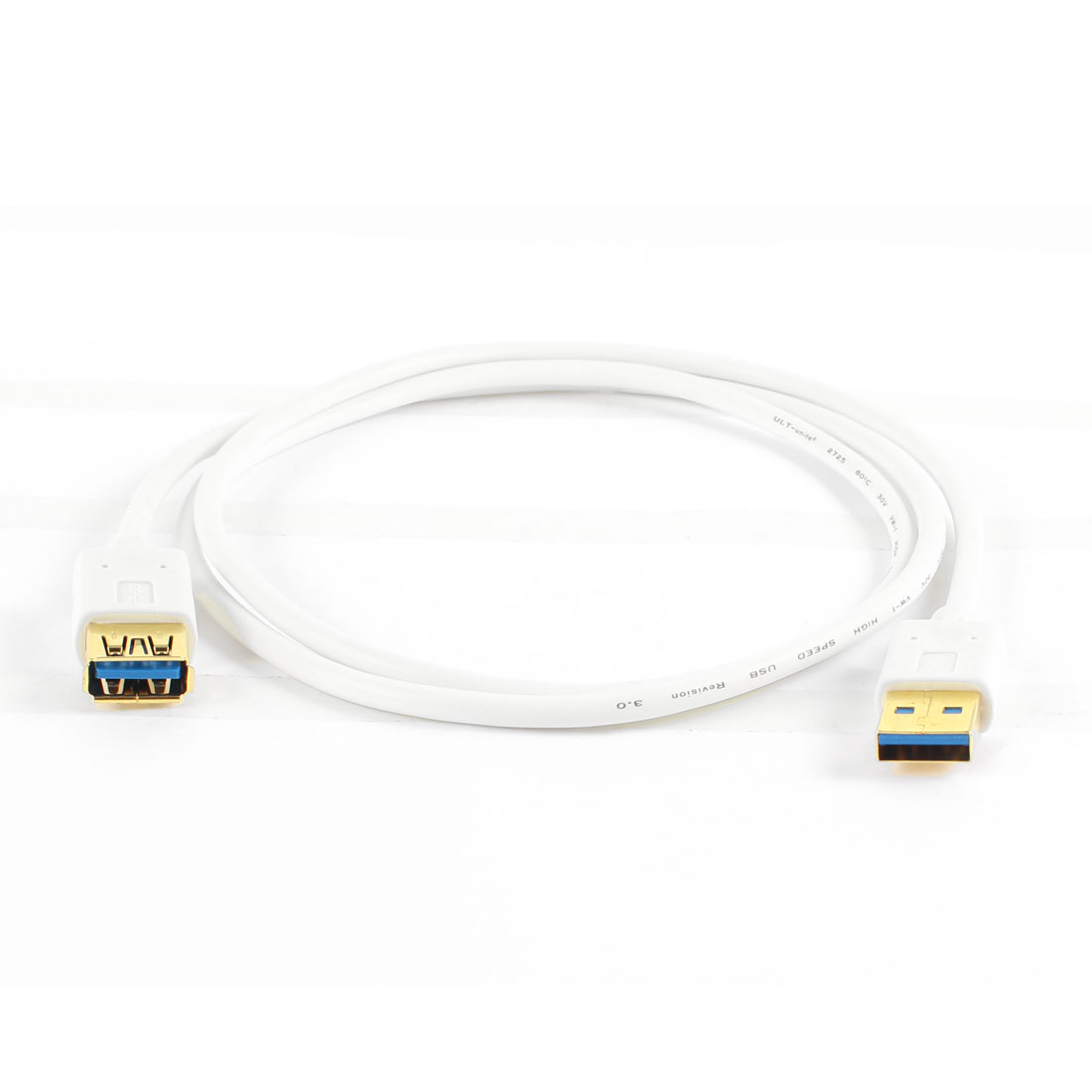 Gold Plated USB 3.0 A Male to Female Extension Cable Adapter White 3.28Ft