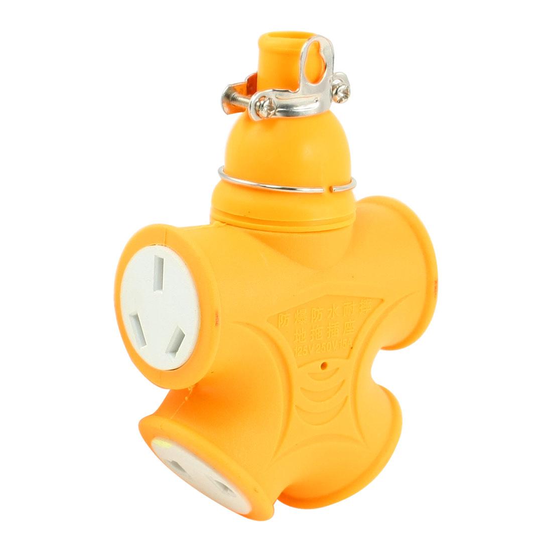 US AU Plug 4 Outlets Waterproof Power Socket Connector AC125V 250V 15A