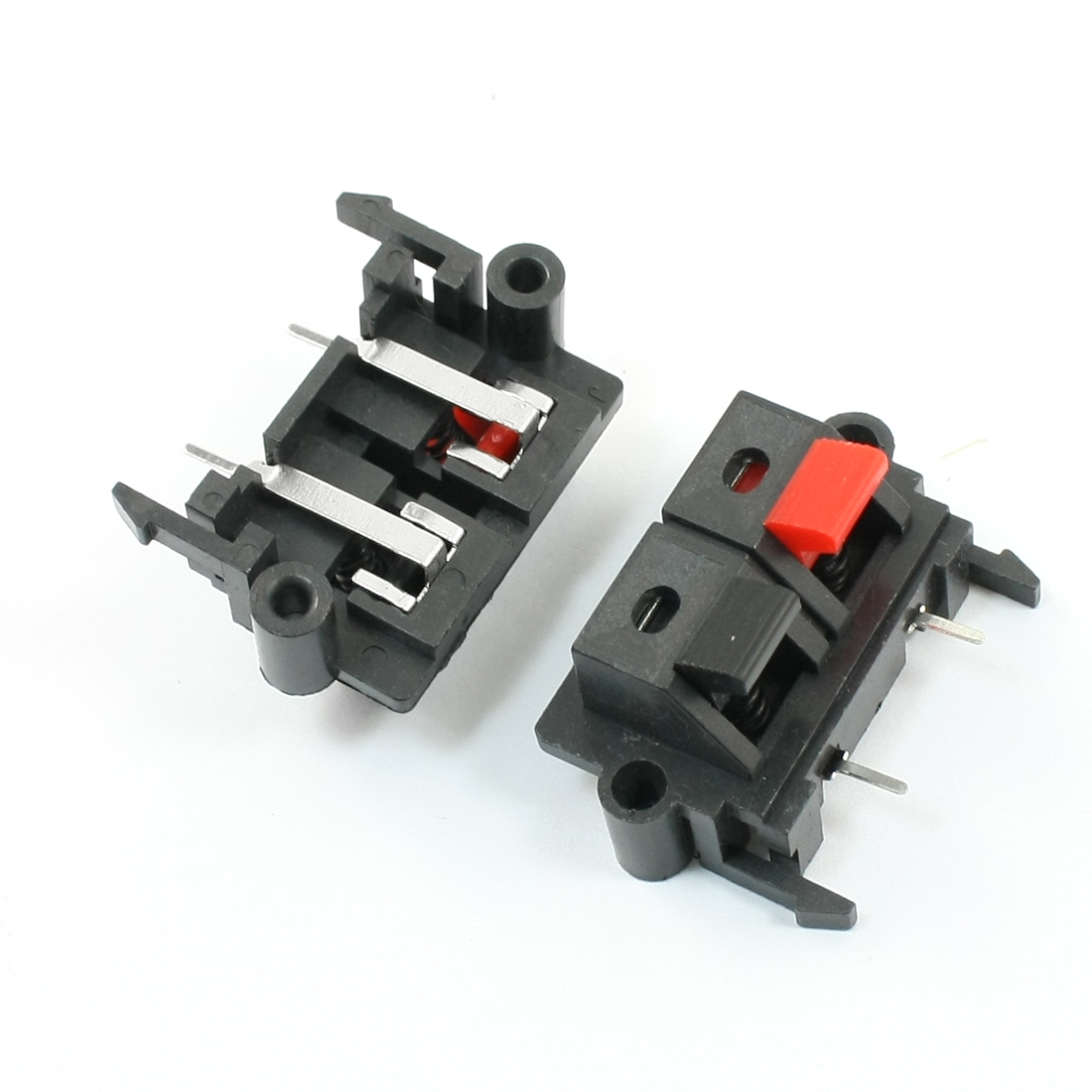 2 x Single Row Push Type Jack Speaker Terminals Board Connector 38x26mm