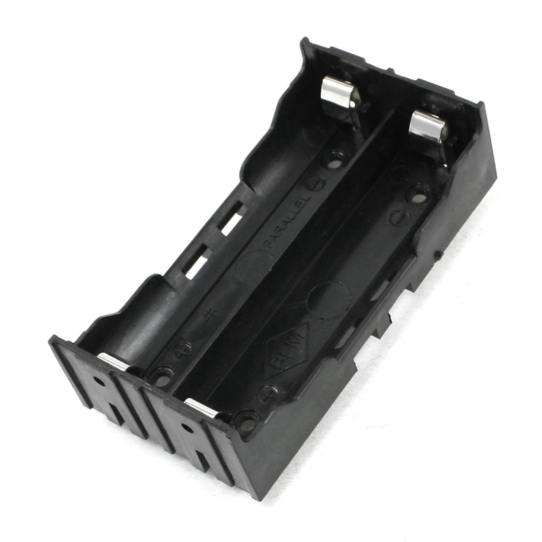 Black Battery Holder for 2 x 18650 Rechargeable Li-ion Batteries