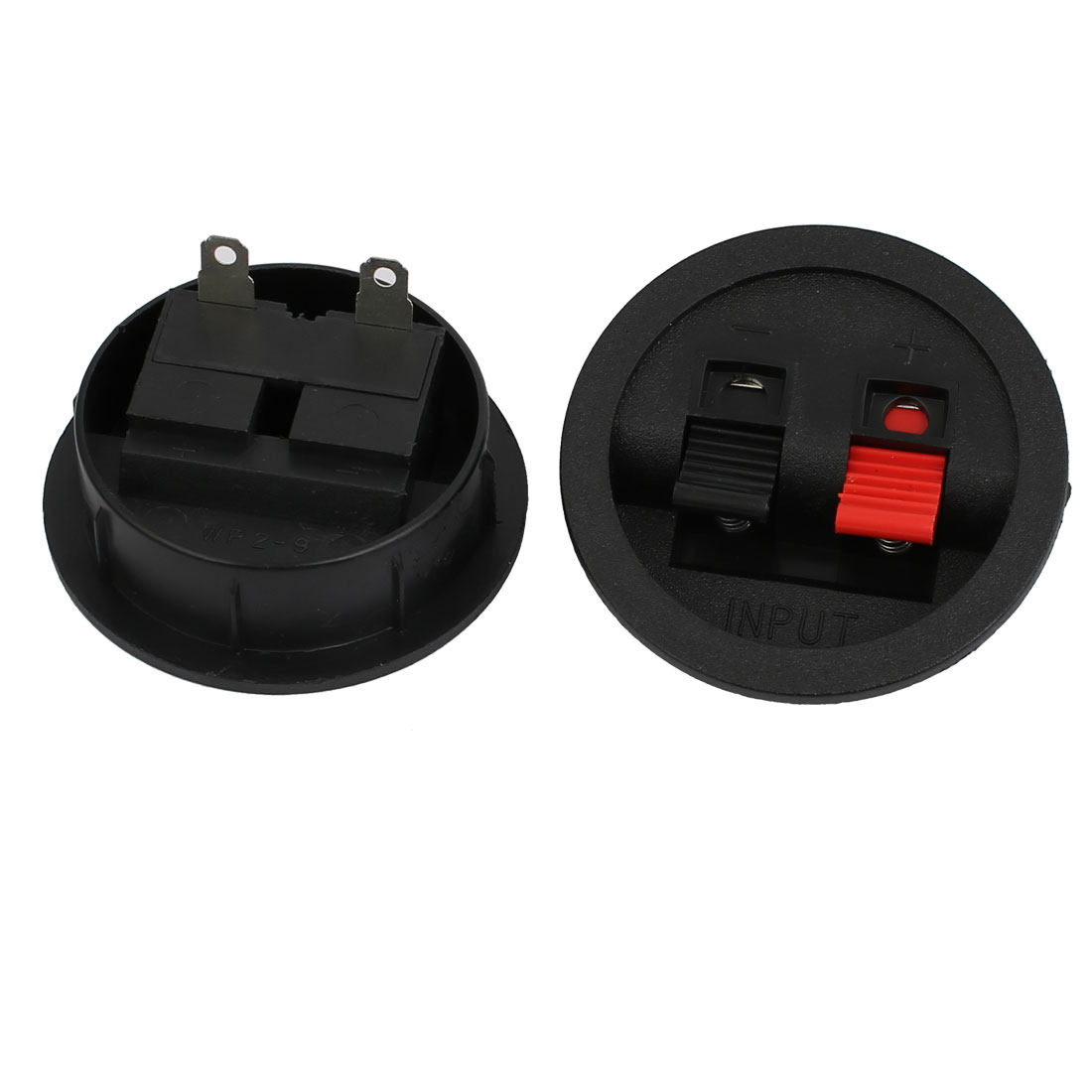 2PCS Binding Spring Post Push Type Circular Speaker Box Terminal Cup
