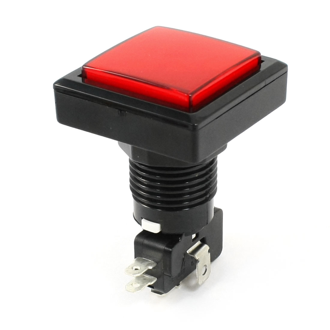 Arcade Game AC250V 15A 35x35mm Square Red Cap Push Button w Micro Switch