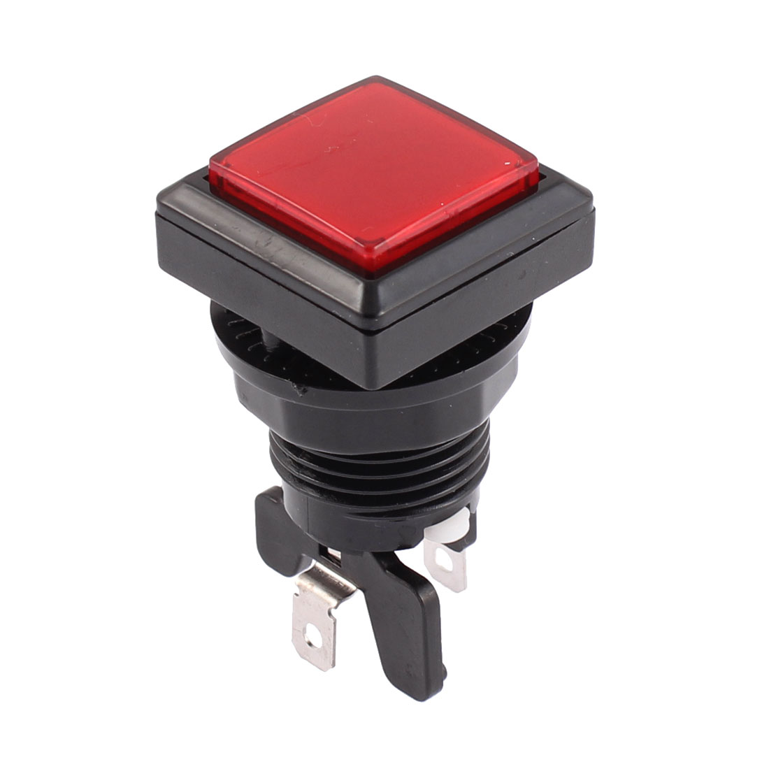 Panel Mount SPST Momentary Game Red Square Head Push Button for Micro Switch