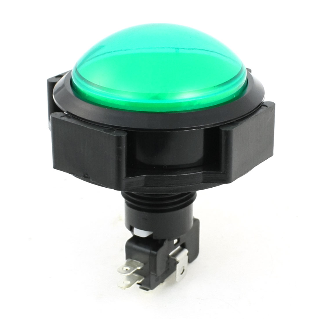 Green Pilot Lamp Momentary Round Push Button Switch for Game Machine