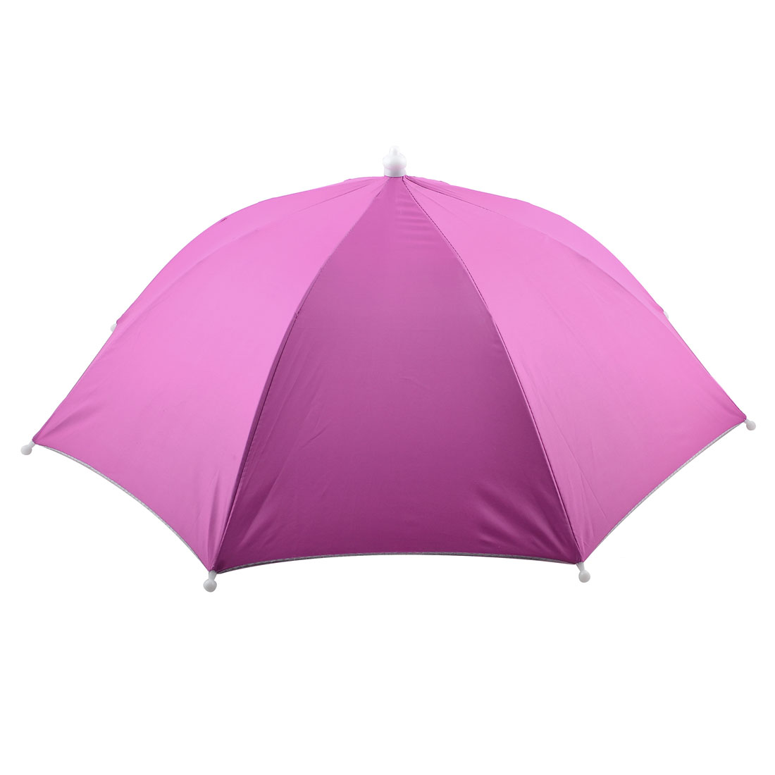 Beach Fishing Camping Fuchsia Folded Umbrella Hat Headwear Cap