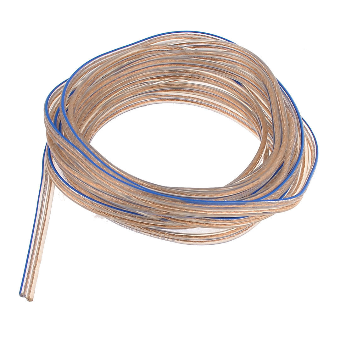 Replacement 6M 19.7ft Speaker Wire Cord Car Home Audio Copper Tone Blue Clear