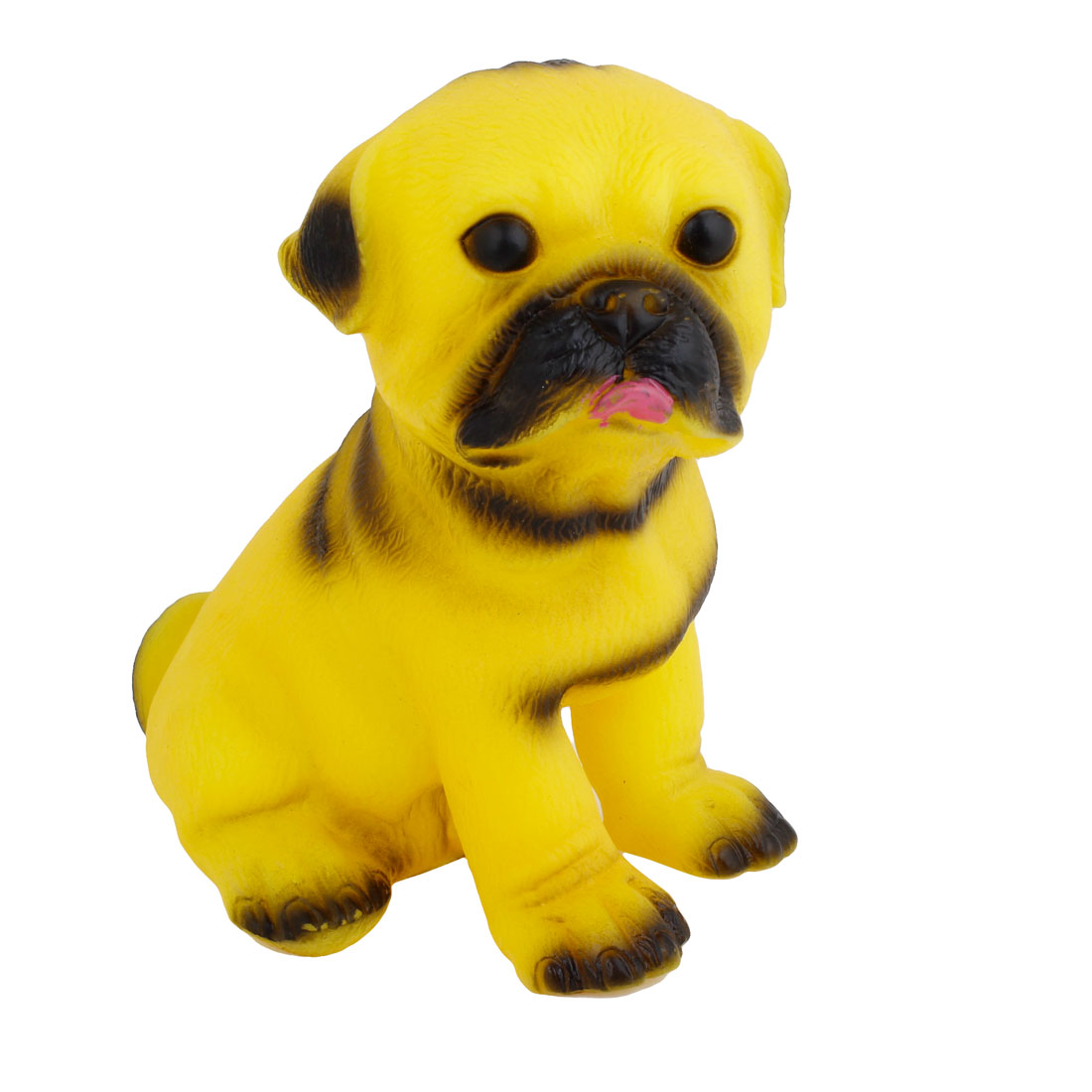 Soft Plastic Dog Shape Yellow Squeeze Squeaky Toy for Kids