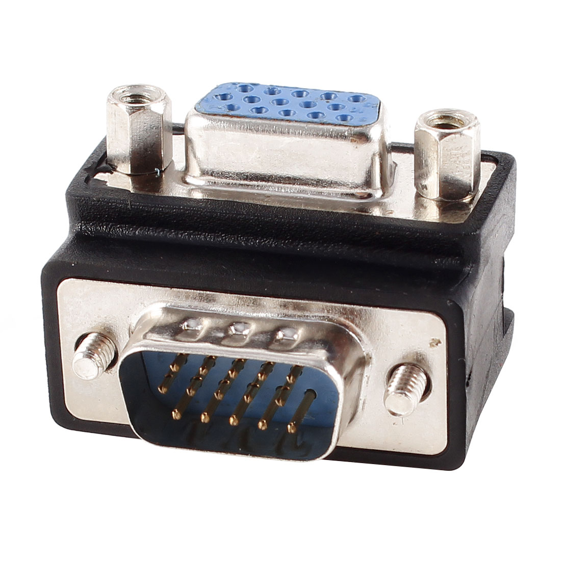 VGA SVGA Male to Female Right Angle Adapter Port for 15 Pin TV Cable