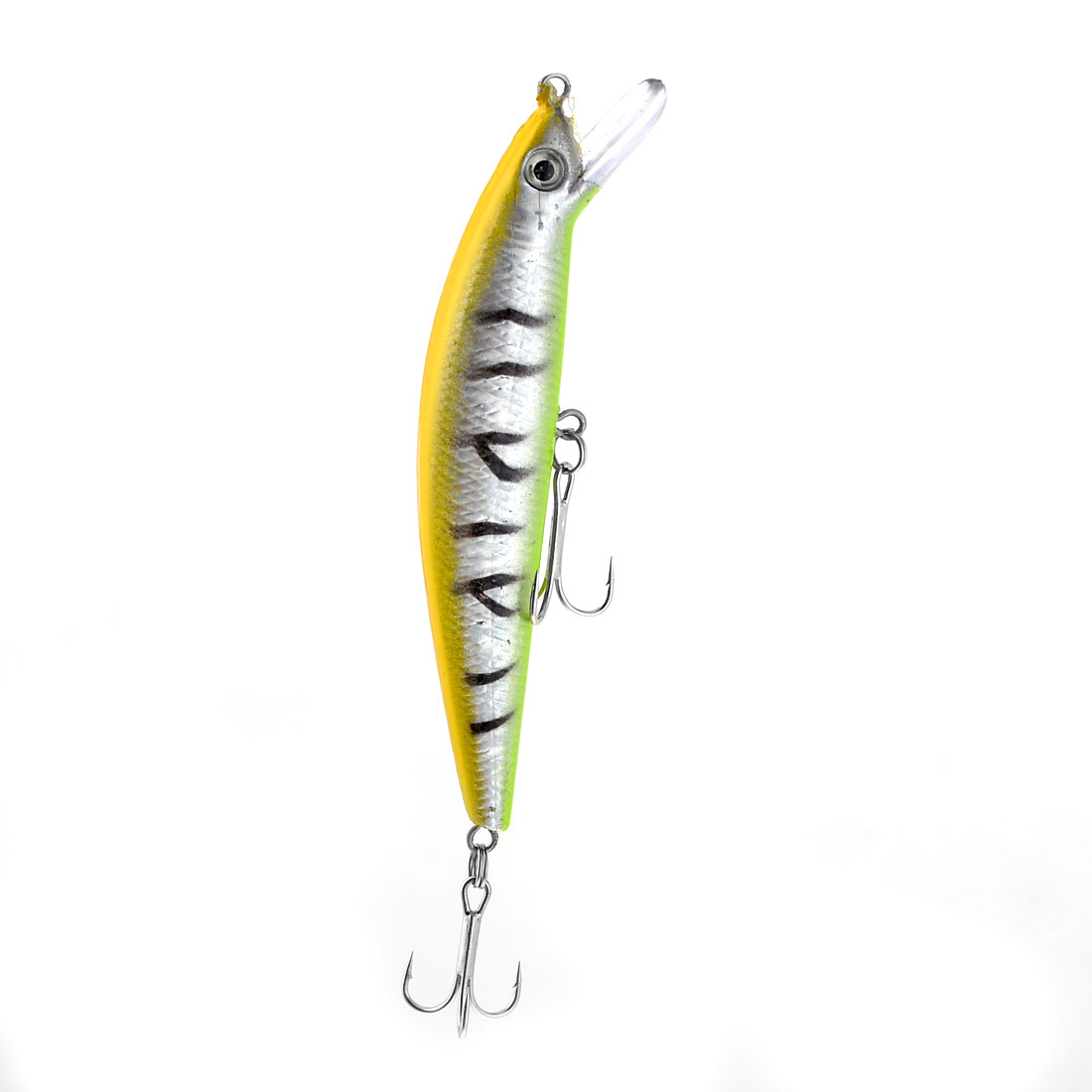 Angler Fishman Yellow Fish Fishing Lure Baiting Hook 12cm Length