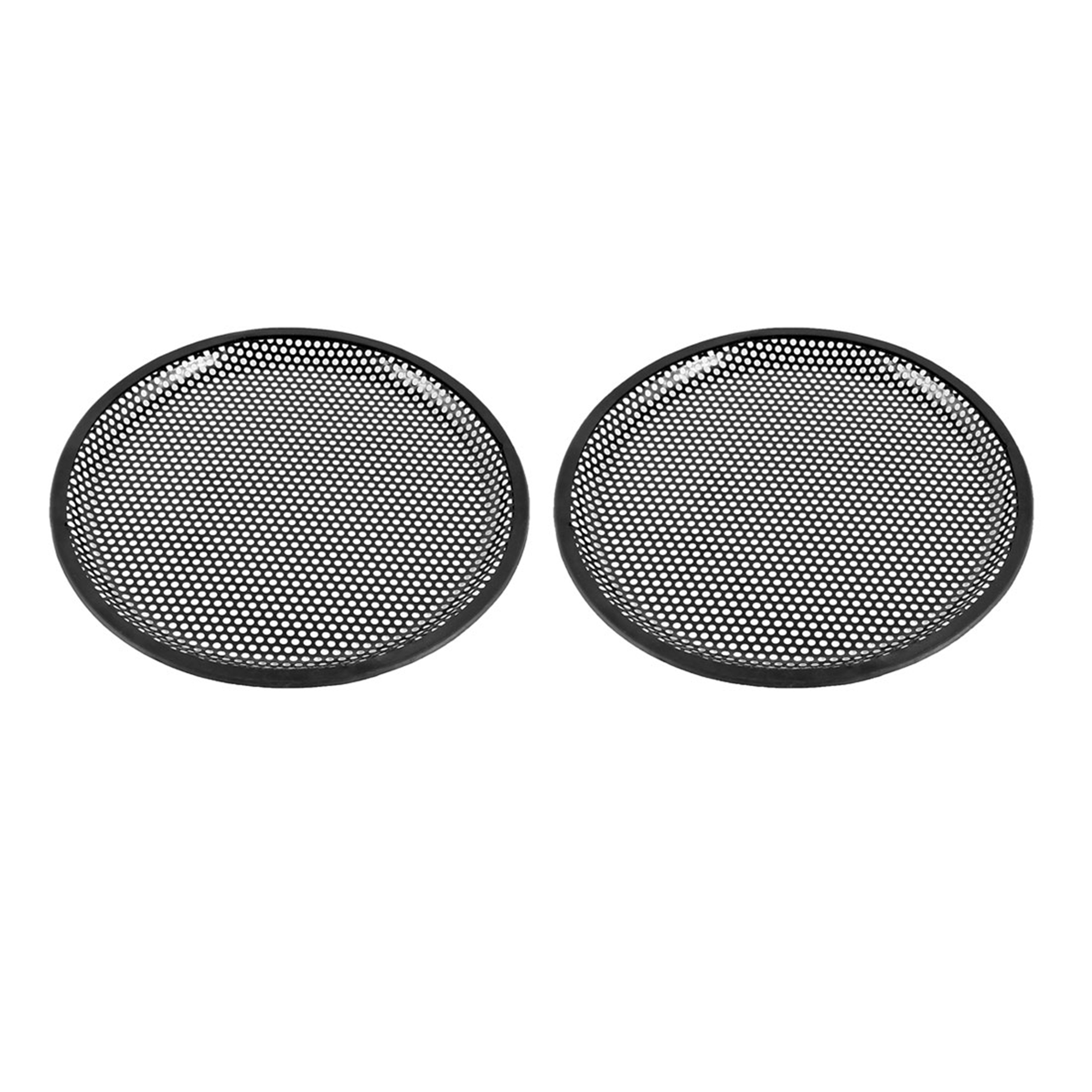 "10"" Dia Metal Mesh Round Car Woofer Cover Speaker Grill Black 2 Pcs"
