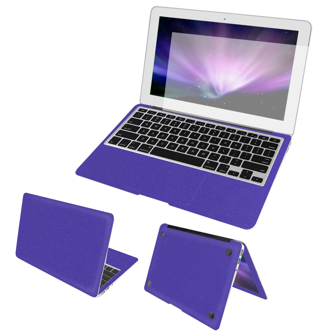 Purple Full Body Wrap Protector Decal Skin Cover Screen Film for Macbook Air 13""