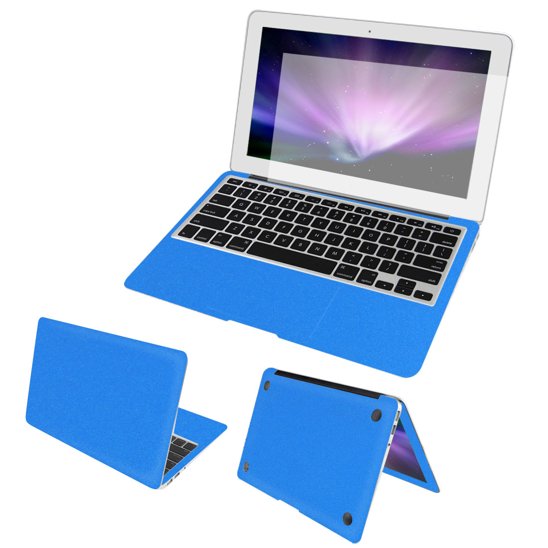 Blue Full Body Wrap Protector Decal Skin Cover Screen Film for Macbook Air 13""