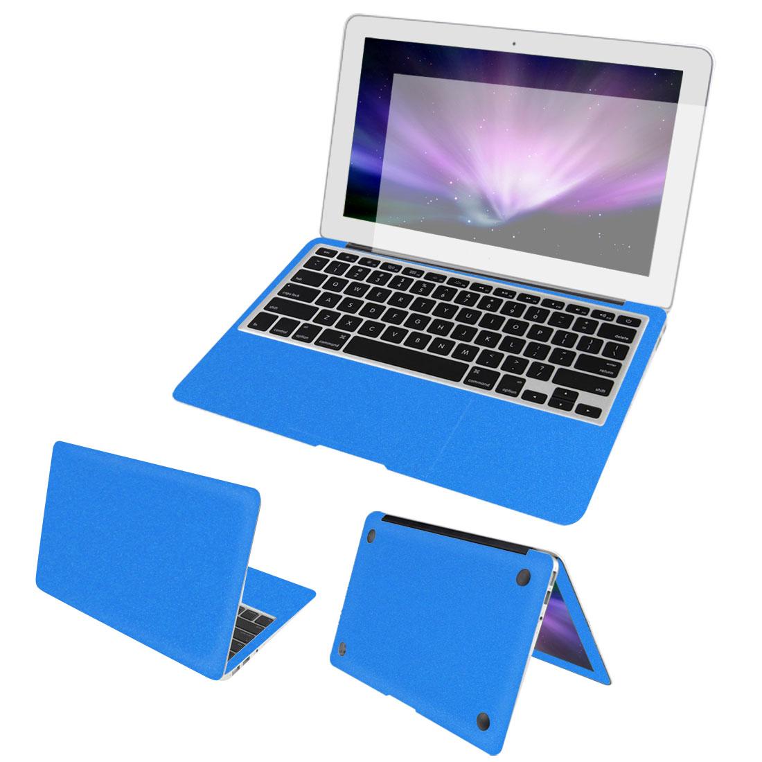 "Blue Full Body Wrap Protector Decal Skin Cover Screen Film for Macbook Air 13"""