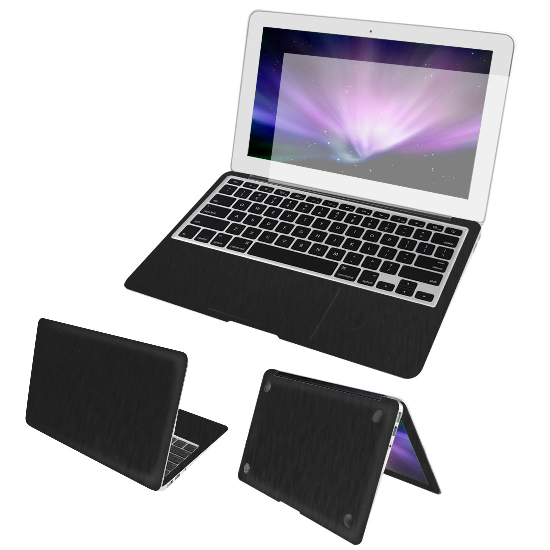 Black Full Body Wrap Protector Decal Skin Cover Dust Stopper for Macbook Pro 15""