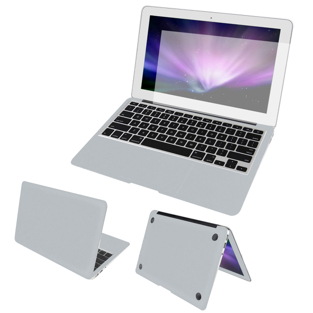 Silver Tone Body Wrap Protector Skin Screen Guard Dust Connector for Macbook Air 11""