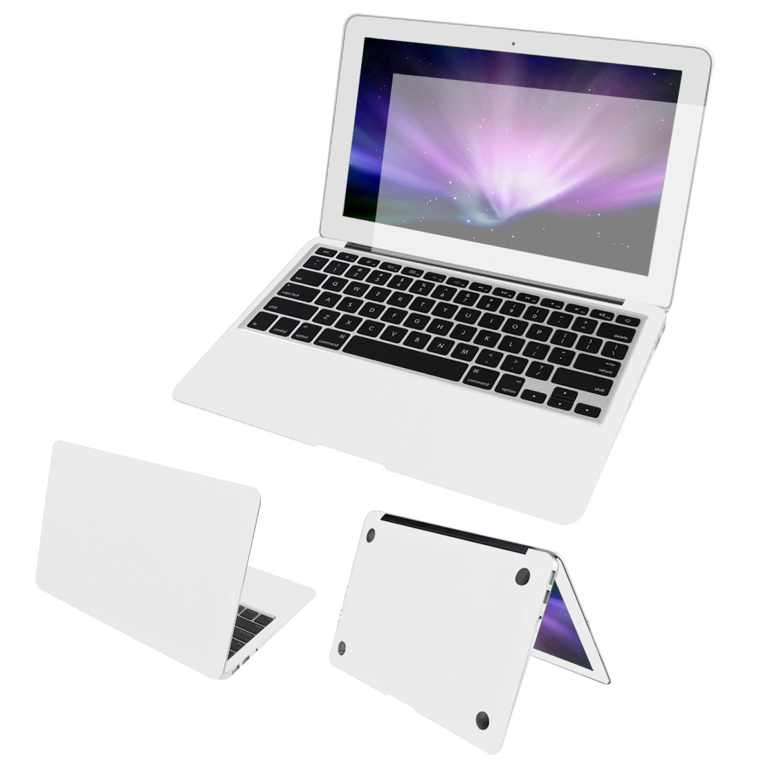 White Body Wrap Protector Decal Skin Screen Guard Dust Connector for Macbook Air 11""