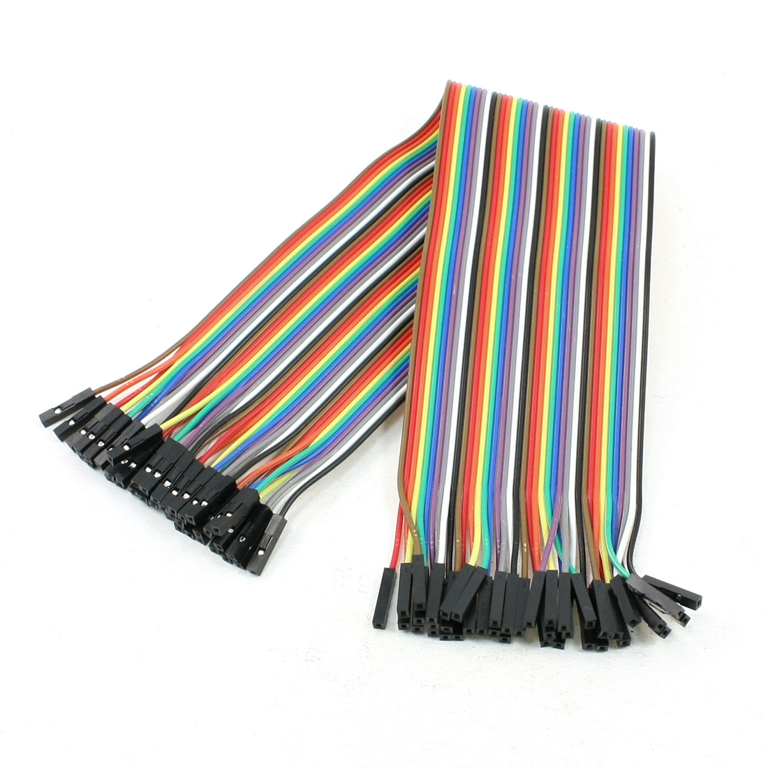 31cm Long 40Pin Female to Female Wire Jumper Cable Line Connect Colorful