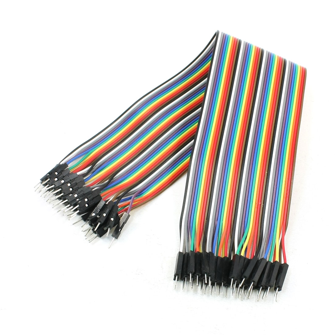 30cm Long 40 Male Pin 1P-1P Wire Jumper Cable Line Connect Colorful