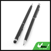 2pcs Portable Black Adjustable Length Touch Screen Stylus Pen Ball Point